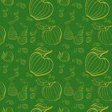 Vector fruits pattern. Fruits seamless background Royalty Free Stock Photo