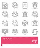 Vector FTP icon set Stock Photography
