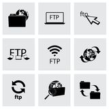 Vector FTP  icons set. On grey background Royalty Free Stock Photography
