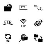 Vector FTP  icons set. On white background Royalty Free Stock Images