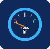 Vector Fuel Gauge Stock Photography