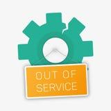 Vector fuera del ejemplo del servicio stock de ilustración