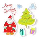 Vector fun christmas icons Royalty Free Stock Photo