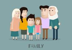 Vector fun family Royalty Free Stock Photos