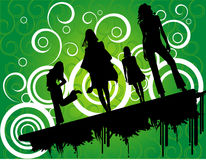Vector fun people illustration. Vector fun people jumping illustration Royalty Free Illustration