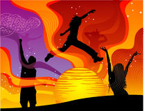 Vector fun people illustration. Abstract  fun people illustration Royalty Free Stock Photography