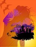 Vector fun people illustration. Abstract  fun people illustration Vector Illustration