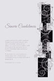 Vector funeral card with abstract floral motif Stock Photography