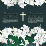 Vector funeral card Stock Image