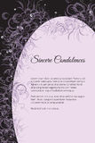 Vector funeral card with elegant abstract floral motif Stock Image