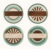 Vector funky retro labels Royalty Free Stock Image