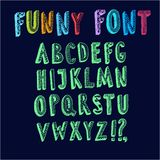 Vector funny ABC letters. Doodle  vector funny ABC letters.Hand drawn font for your design Royalty Free Stock Images