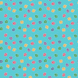 Vector funny abstract seamless cubes pattern Stock Image