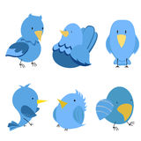 Vector funny birds Stock Photography