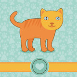 Vector funny cartoon cat Royalty Free Stock Images