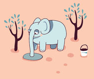 vector Funny cartoon elephant Royalty Free Stock Images