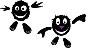 Vector funny cartoons. Two abstract vector funny character Stock Images