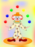Vector funny clown with balls Royalty Free Stock Photo