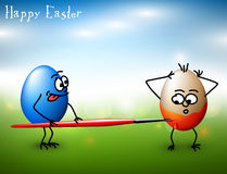 Vector Funny easter eggs - Happy Easter Card Stock Photo