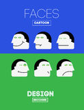 Vector Funny Emotions Royalty Free Stock Photo