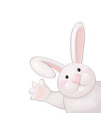 Vector of funny rabbit isolated. Stock Photos