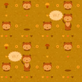Vector funny seamless pattern with gophers Royalty Free Stock Photos