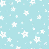 Vector funny seamless pattern. Vector seamless pattern with little stars. Esp 8 Royalty Free Stock Images