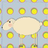 Vector funny sheep Royalty Free Stock Photo