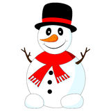 Vector of funny snowman Stock Photo