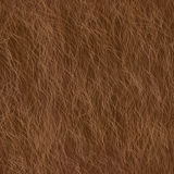 Vector Fur Seamless Pattern. Brown Background. Royalty Free Stock Photos