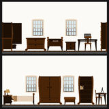 Vector furniture icon set Royalty Free Stock Photos