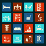 Vector furniture icons Royalty Free Stock Image