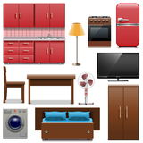 Vector Furniture Icons Royalty Free Stock Images