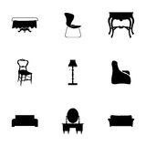 Vector furniture icons set Stock Images