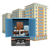 Vector Furniture Transportation Stock Photo