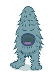 Vector furry blue monster Royalty Free Stock Images