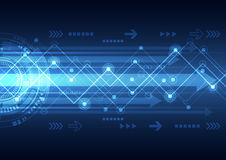 Vector future network telecom technology, abstract background. Illustration Royalty Free Stock Photos