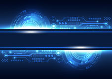 Vector future network telecom technology, abstract background Stock Image