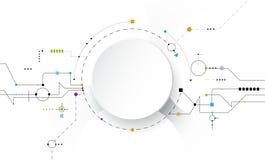 Vector futurista abstracto del ejemplo, placa de circuito en fondo gris claro libre illustration