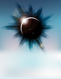 Vector futuristic background with city and eclipse Stock Images