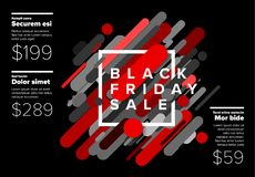 Black friday sale poster Stock Photos