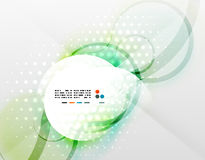 Vector futuristic blurred hi-tech shapes Royalty Free Stock Photography