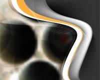 Vector futuristic metallic wave background Royalty Free Stock Photo