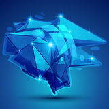 Vector futuristic object with sparkling effect, 3d Royalty Free Stock Photography