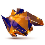 Vector futuristic object with sparkling effect, 3d Royalty Free Stock Photos