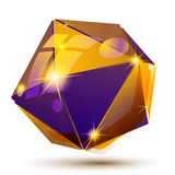 Vector futuristic object with sparkling effect, 3d texture Stock Images