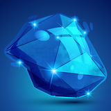 Vector futuristic object with sparkling effect Royalty Free Stock Photo