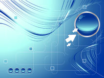 Vector futuristic template Stock Image