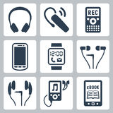 Vector gadgets icons set Stock Images