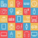 Vector gadgets line icon set Royalty Free Stock Photography